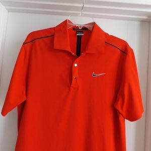 Nike Tiger Woods Collection Red Medium Golf Polo